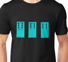 666 Dominos - Cyan Unisex T-Shirt