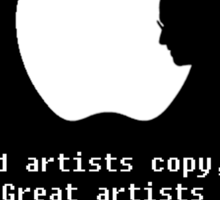 Apple Artists Think Differently   Sticker