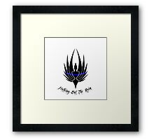 LEO support Nothing But The Rain Framed Print