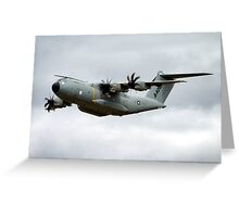 Airbus Military A400M demonstrator EC-402 aircraft Greeting Card