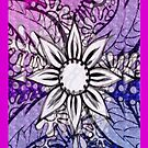 iphone case - digital flower by MelDavies