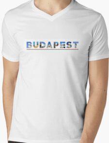budapest text Mens V-Neck T-Shirt