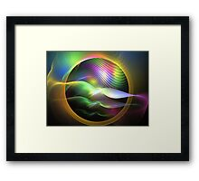 Rainbow Seagulls Framed Print
