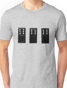 666 Dominos - Black Unisex T-Shirt