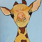 Baby Giraffe Nursery Painting by MyFirstCanvas