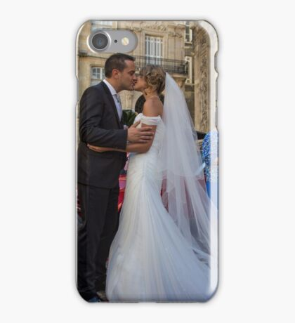 France. Bordeaux. Bride and Groom. Kiss. iPhone Case/Skin