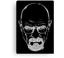 Heisenberg | Walter White from Breaking Bad White Canvas Print