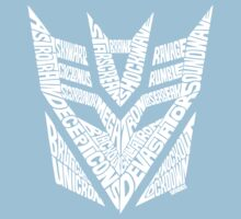 Transformers Decepticons White Kids Tee
