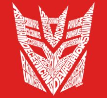 Transformers Decepticons White One Piece - Long Sleeve