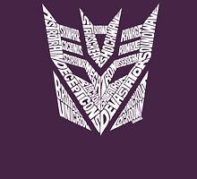 Transformers Decepticons White Unisex T-Shirt