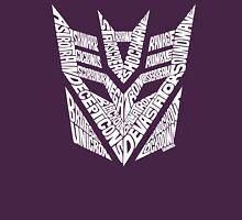 Transformers Decepticons White Unisex T-Shirt