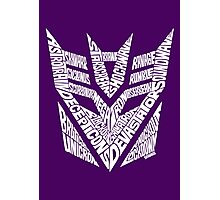 Transformers Decepticons White Photographic Print