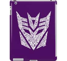 Transformers Decepticons White iPad Case/Skin