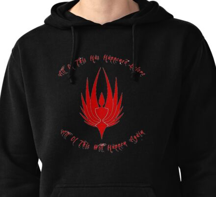 All of this has happened before red Pullover Hoodie