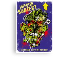 Infected Subject Canvas Print