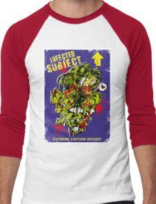 Infected Subject Men's Baseball ¾ T-Shirt