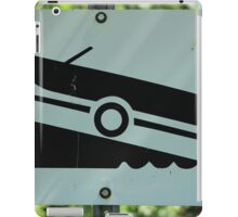Boat Launch Sign iPad Case/Skin