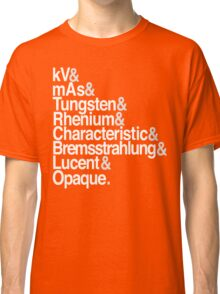 Radiology from-to Helvetica II Classic T-Shirt