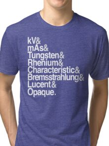 Radiology from-to Helvetica II Tri-blend T-Shirt