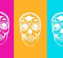 Colorful Skulls by linnnna