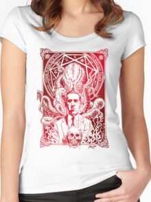 Cthulhu Howard Phillips Lovecraft HP historical society Women's Fitted Scoop T-Shirt
