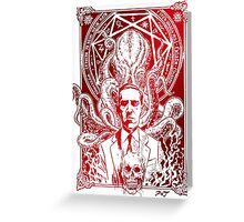 Cthulhu Howard Phillips Lovecraft HP historical society Greeting Card