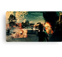 A hero's work is never done Canvas Print