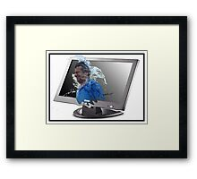 Screen Splash Framed Print