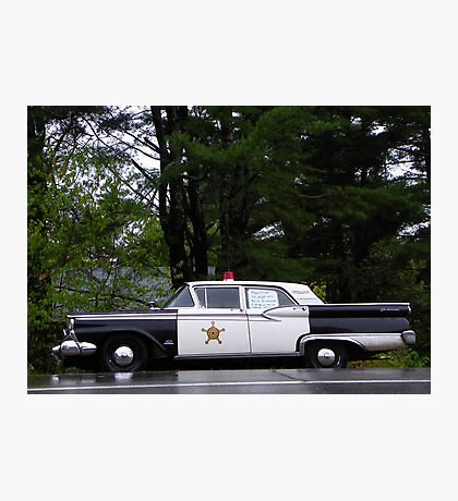 Mayberry Police Car? Photographic Print