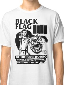Retro Punk Restyling   - Black Flag wolf Classic T-Shirt