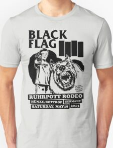 Retro Punk Restyling   - Black Flag wolf T-Shirt