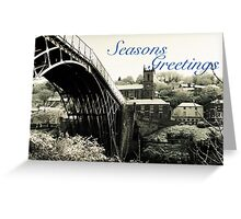 Seasons Greetings Ironbridge and Church Greeting Card