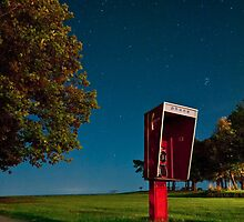 Starry Phone Booth by BradKphoto