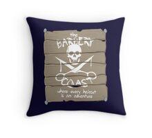 The Barbery Coast Throw Pillow