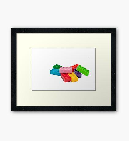 Plastic toys, building blocks. Framed Print