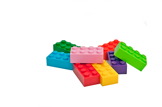 Plastic toys, building blocks. by FER737NG