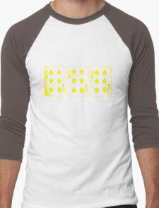 666 Cards - Yellow Men's Baseball ¾ T-Shirt