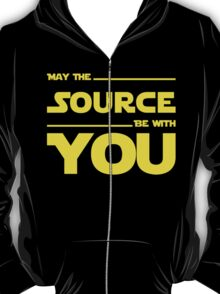 May The Source Be With You - Stars Wars Parody for Programmers T-Shirt