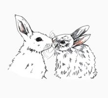Kissing rabbits Kids Tee
