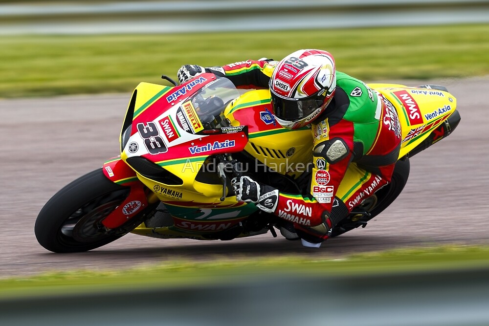 British Superbike rider Tommy Hill by Andrew Harker
