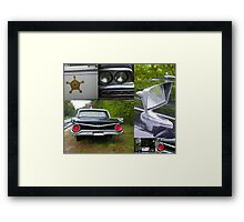The Rest of the Story - Mayberry Police Car Framed Print