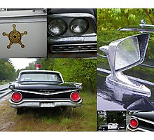 The Rest of the Story - Mayberry Police Car Photographic Print