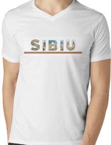 sibiu text Mens V-Neck T-Shirt