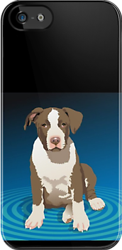 APBT Puppy - iPhone Case by Ginny York