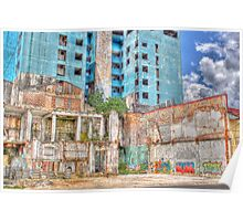 Graffiti Adorned Abandoned Building in Iquitos, Peru Poster
