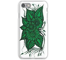 Green Flower by A.N. iPhone Case/Skin