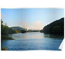 The Allegheny River Meets French Creek. Poster