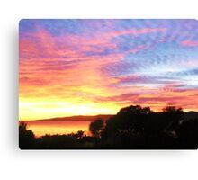 Hawley Sunrise, Canon IXUS 50 Canvas Print