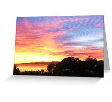 Hawley Sunrise, Canon IXUS 50 Greeting Card