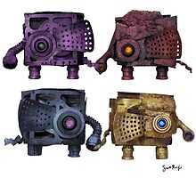 Boxyphants in 4 Colors by SRolfe